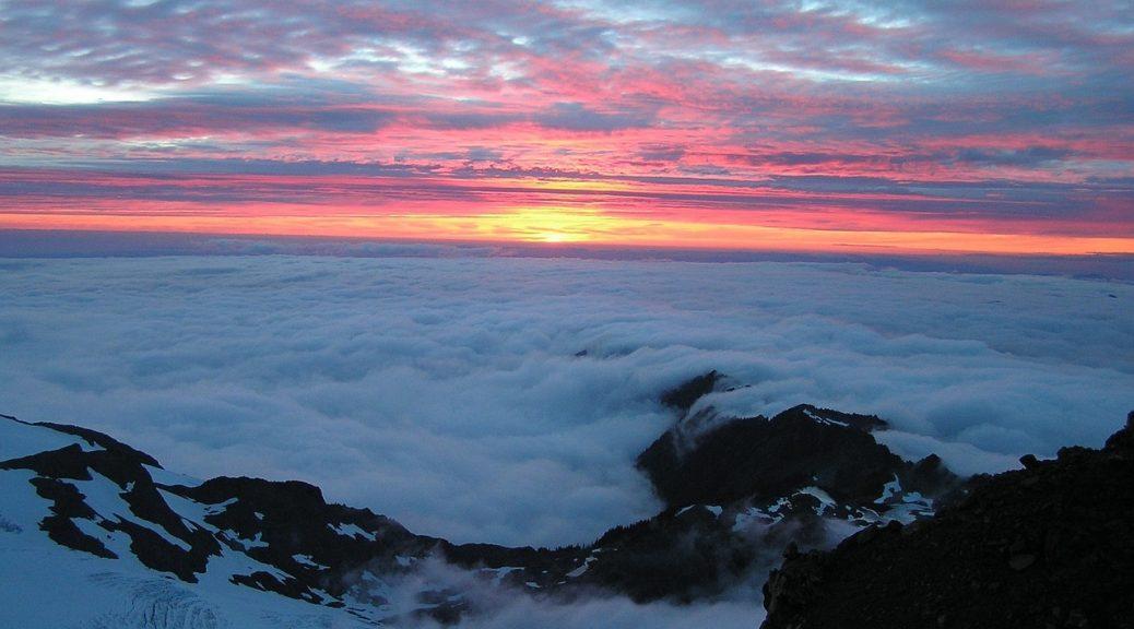 zachód słońca Olimp